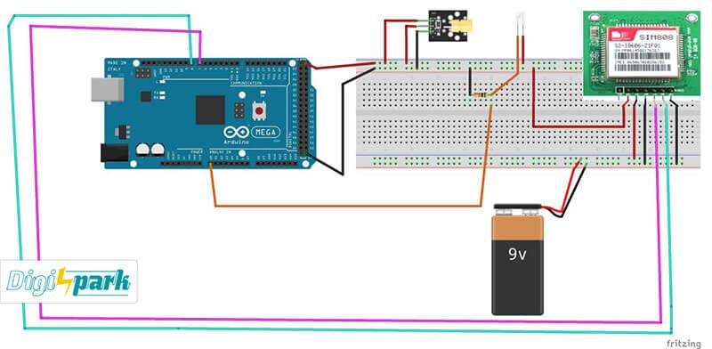 شماتیک ساخت دزدگیر لیزری با آردوینو Arduino - دیجی اسپارک