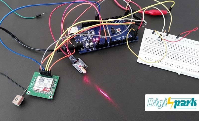 مدار دزدگیر لیزری با آردوینو Arduino - دیجی اسپارک