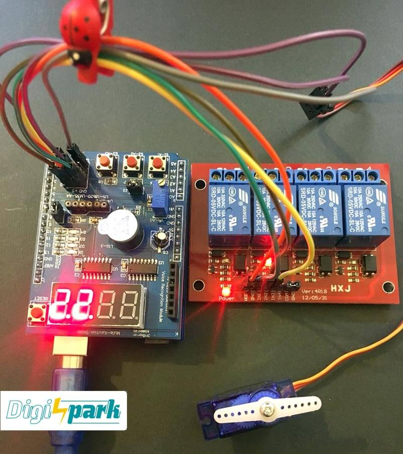 Arduino Multifunction shield tutorial-digispark