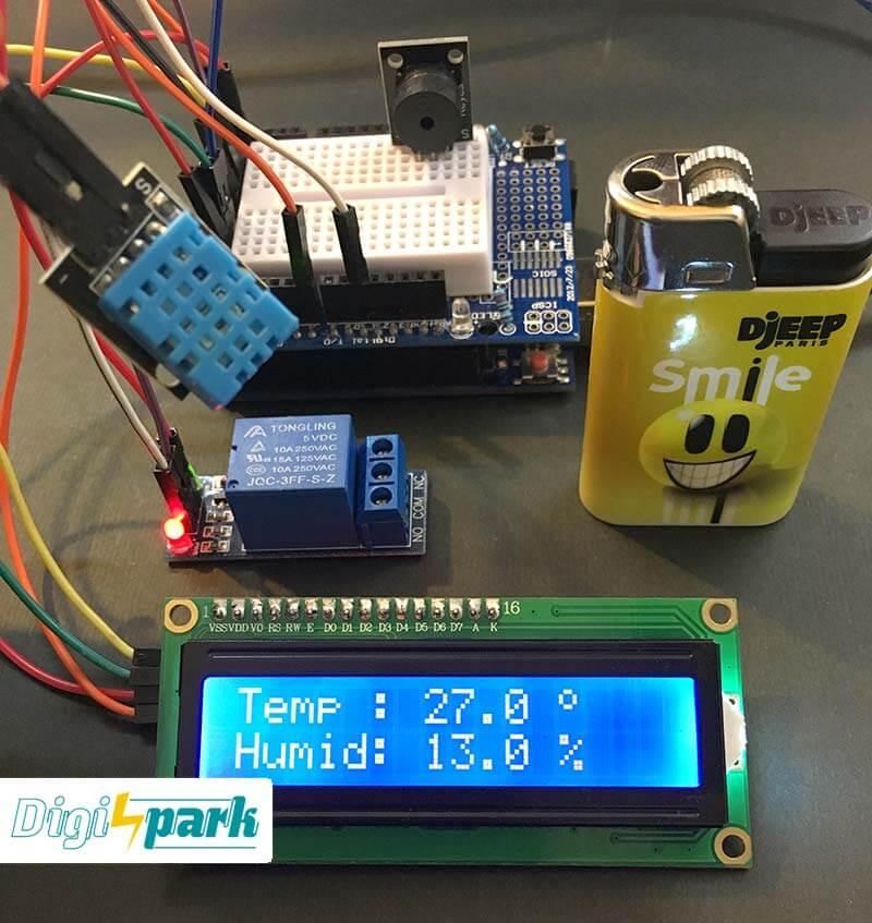 آموزش ساخت ترموستات با سنسور DHT11 و برد آردوینو - دیجی اسپارک