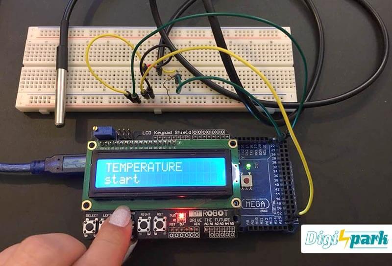 آموزش کار با سنسور دماسنج DS18B20 و آردوینو Mega2560 - دیجی اسپارک
