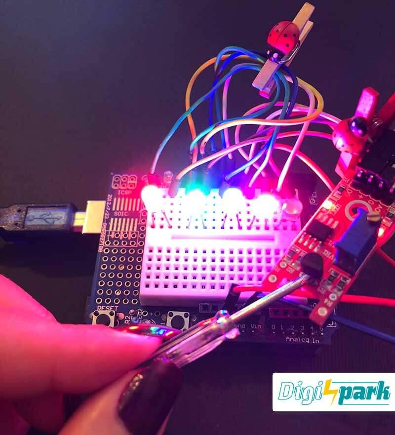 آموزش راه اندازی ماژول تشخیص سطوح فلزی Metal Touch با آردوینو -دیجی اسپارک