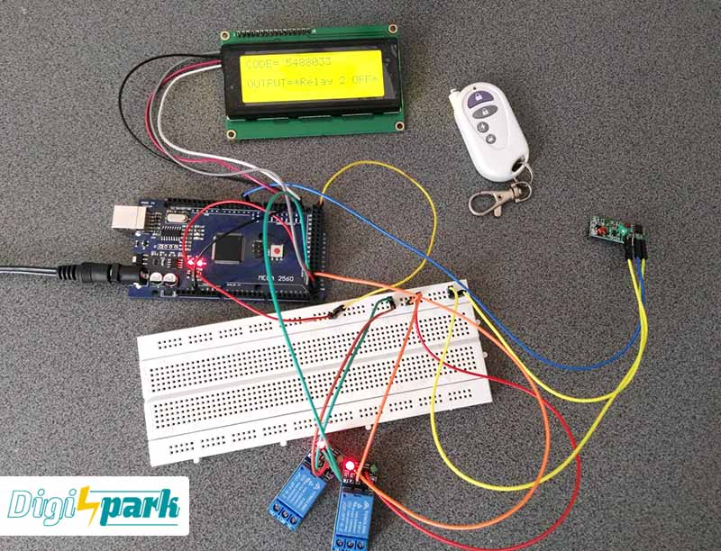 RF Remote control code with ardun o-digispark