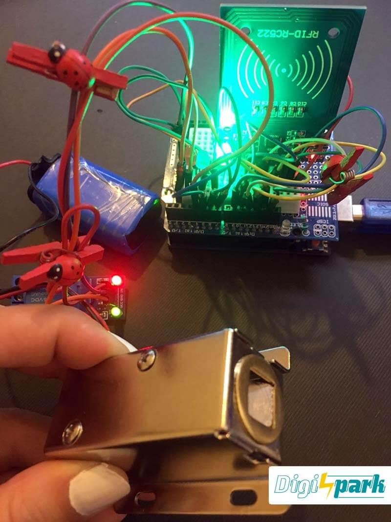پروژه دربازکن با RFID توسط آردوینو و ماژول RC522 - دیجی اسپارک