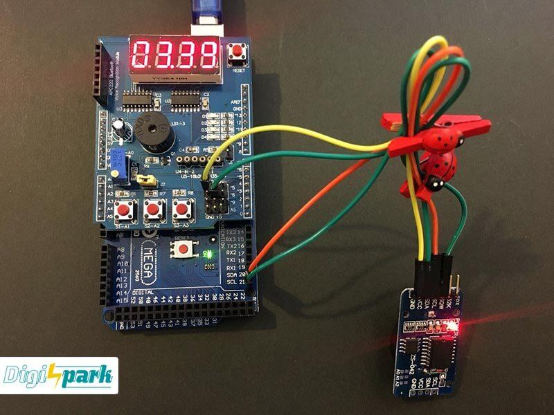 آموزش ساخت ساعت دیجیتال با شیلد مولتی فانکش آردوینو Arduino - دیجی اسپارک
