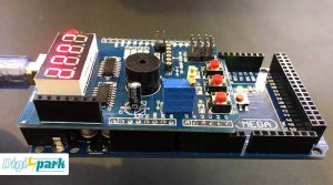 شیوه اتصال شیلد مولتی فانکشن آردوینو به Arduino mega2560 - دیجی اسپارک
