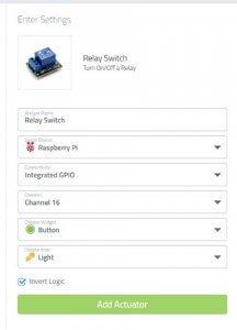 تنظیمات ماژول رله Relay در نرم افزار Cayenne - دیجی اسپارک