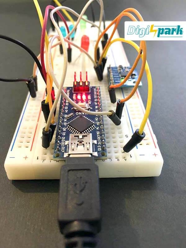 پروژه کنترل ال ای دی با سنسور شتاب و ژایرو MPU6050 - دیجی اسپارک