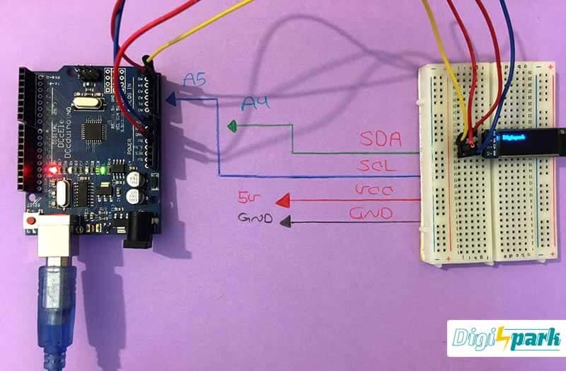 آموزش راه اندازی ماژول نمایشگر OLED 128X32 با رابط I2C - دیجی اسپارک