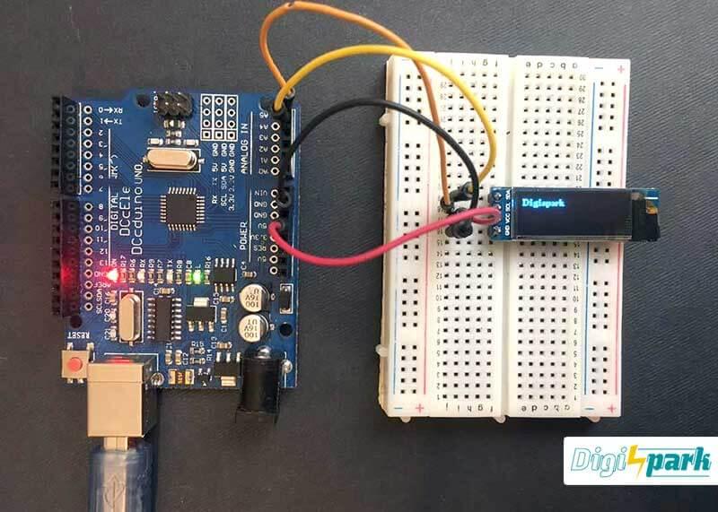 راه اندازی نمایشگر OLED 128X32 با رابط I2C توسط آردوینو - دیجی اسپارک