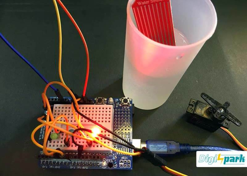 مدار تشخیص سطح آب مخزن با سنسور Water Level Sensor با آردوینو - دیجی اسپارک