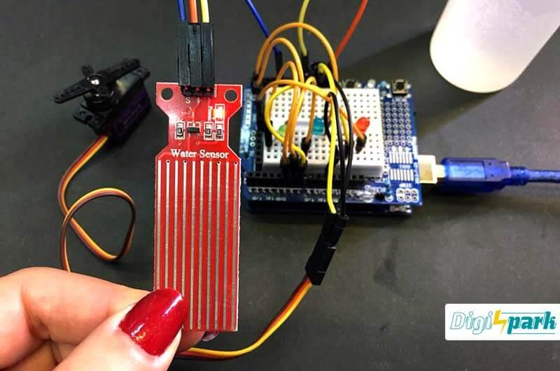 آموزش ساخت مدار تشخیص سطح آب با آردوینو و سنسور water level - دیجی اسپارک