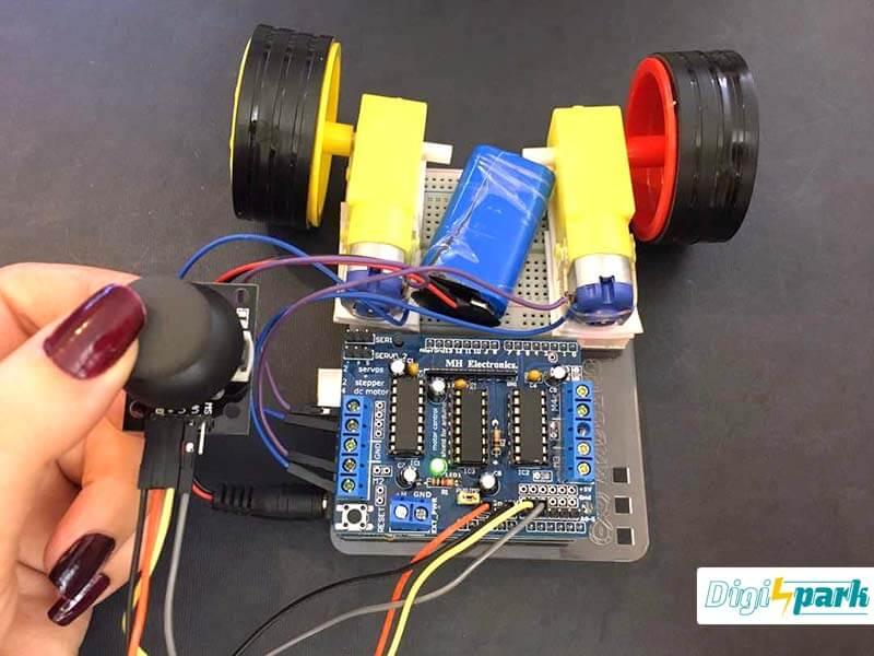 اتصال درایور موتور L293D به آردوینو و موتور DC - دیجی اسپارک