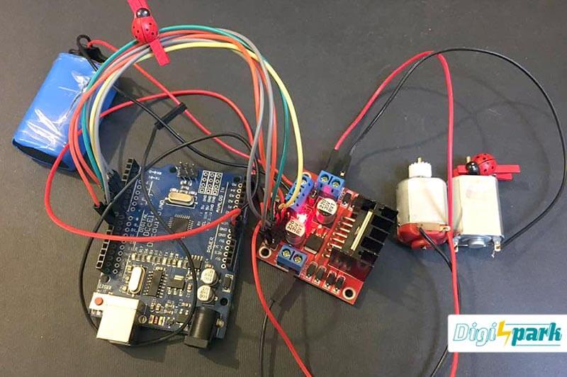 کنترل موتور DC با آردوینو و درایور موتور L298 - دیجی اسپارک