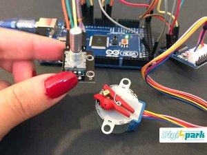 کنترل استپر موتور با آردوینو و روتاری انکودر - دیجی اسپارک
