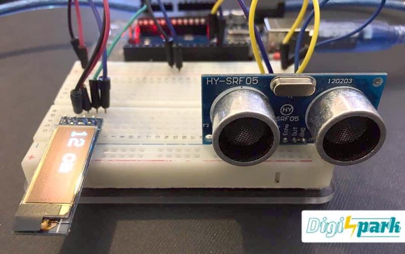 آموزش ساخت پروژه تشخیص فاصله ماژول SRF04 و Arduino با نمایشگر OLED - دیجی اسپارک