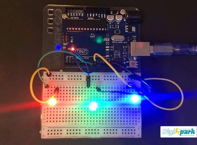 کنترل LED با GUI در نرم افزار پروسسینگ Arduino - دیجی اسپارک