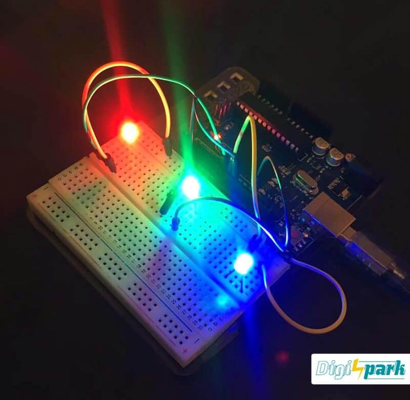 آموزش ساخت GUI با نرم افزار پروسسینگ و آردوینو کنترل LED -دیجی اسپارک