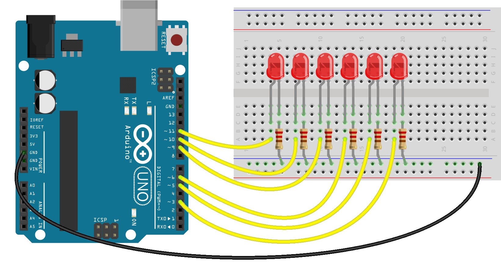 برنامه fade call back در جاوا اسکریپت روی آردوینو Arduino Johnny Five- دیجی اسپارک