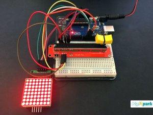 راه اندازی ماژول دات ماتریس Slide pot با آردوینو - دیجی اسپارک