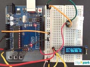 نمایشگر دما رطوبت با سنسور DHT22 و OLED 128x64 برد آردوینو - دیجی اسپارک
