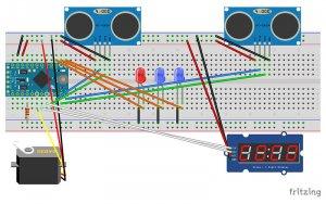 اتصالات مدار پارکینگ هوشمند با آردوینو و Servo motor - دیجی اسپارک