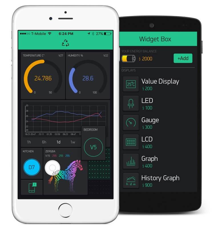 اپلیکیشن Blynk ارتباط با امبدد سیستم پلتفرم توسعه IoT - دیجی اسپارک