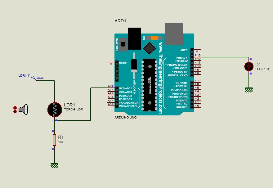 مدار فتوسل LDR با آردوینو در نرم افزار پروتئوس Proteus - دیجی اسپارک