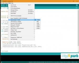 تنظیمات مروبط به برد Nodemcu در arduino ide - دیجی اسپارک