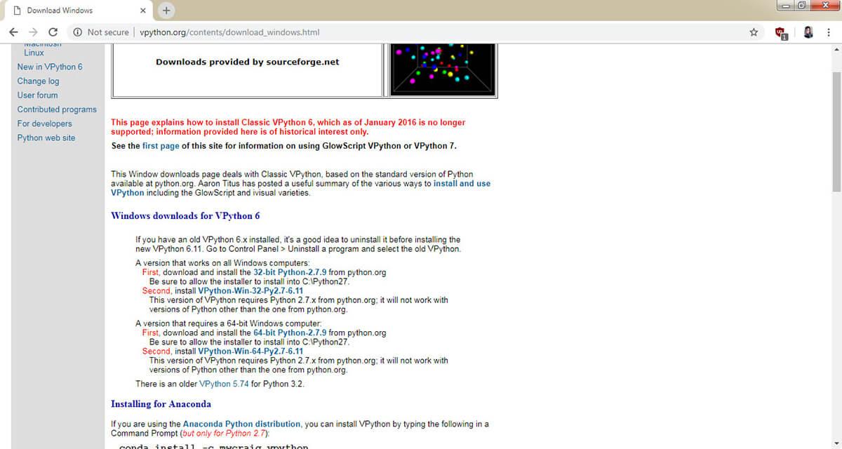 نصب کتابخانه vpython پایتون برای آردوینو Arduino Python - دیجی اسپارک