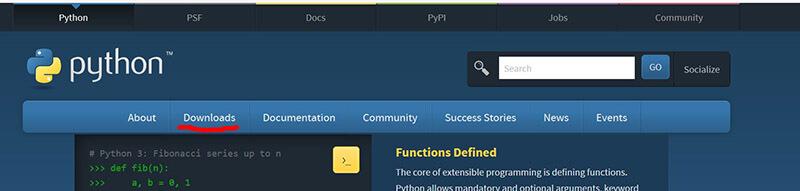 بخش دانلود سایت پایتون Python - نصب پایتون در ویندزو - دیجی اسپارک