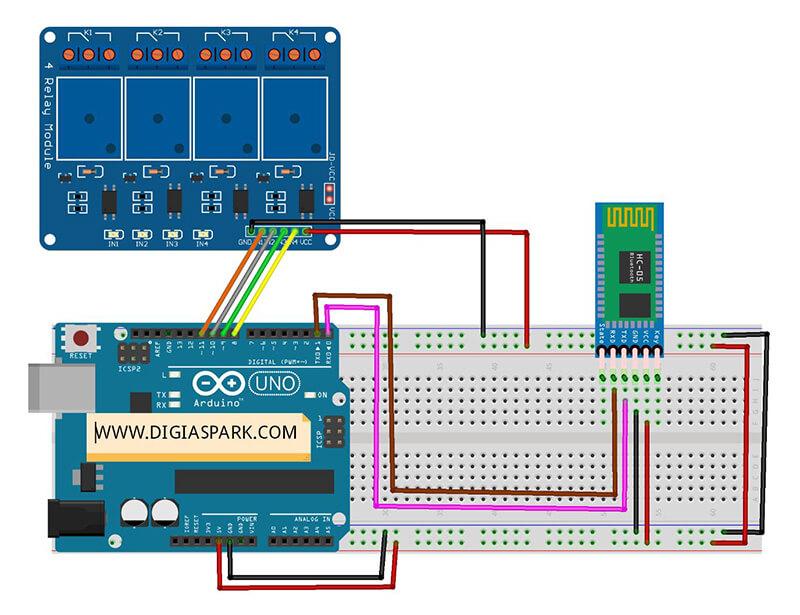اتصال ماژول بلوتوث ساخت خانه هوشمند با Bluetooth و آردوینو - دیجی اسپارک