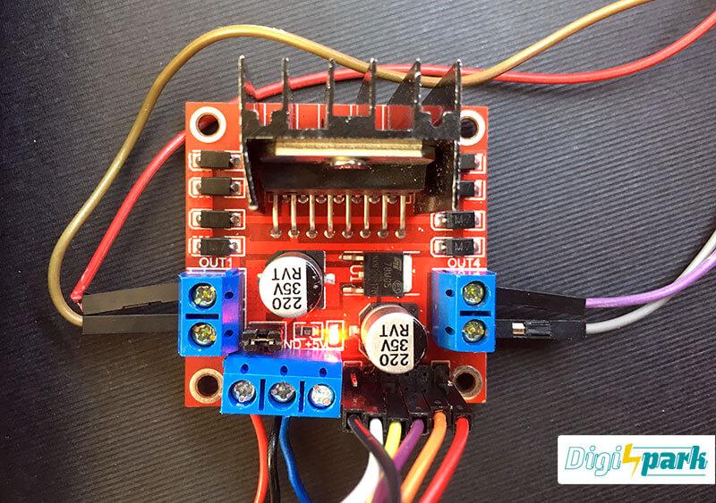 پروژه کنترل موتور با درایور موتور L298 و جوی استیک آردوینو - دیجی اسپارک