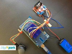 کنترل موتور DC با درایور موتور L298N و آردوینو Arduino - دیجی اسپارک