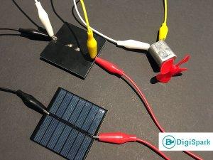 اتصال موازی سلول خورشیدی و موتور DC - دیجی اسپارک