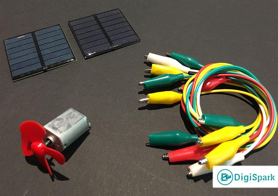 راه اندازی موتور DC با سلول خورشیدی - دیجی اسپارک