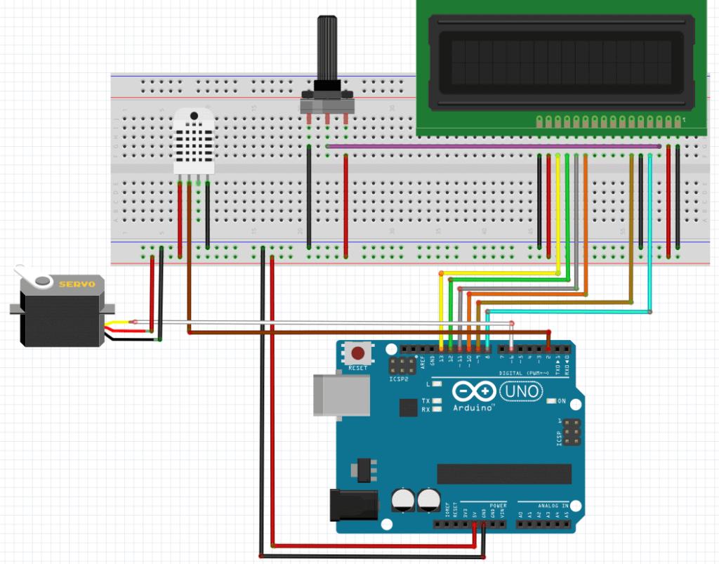 termometer with servo motor arduino-digispark