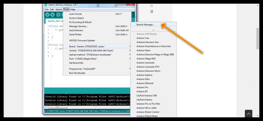 STM32 in arduino IDE 2
