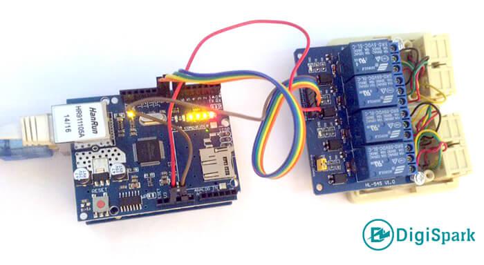 اتصالات مدار کنترل وسایل برقی با شیلد اترنت آردوینو W5100 - دیجی اسپارک