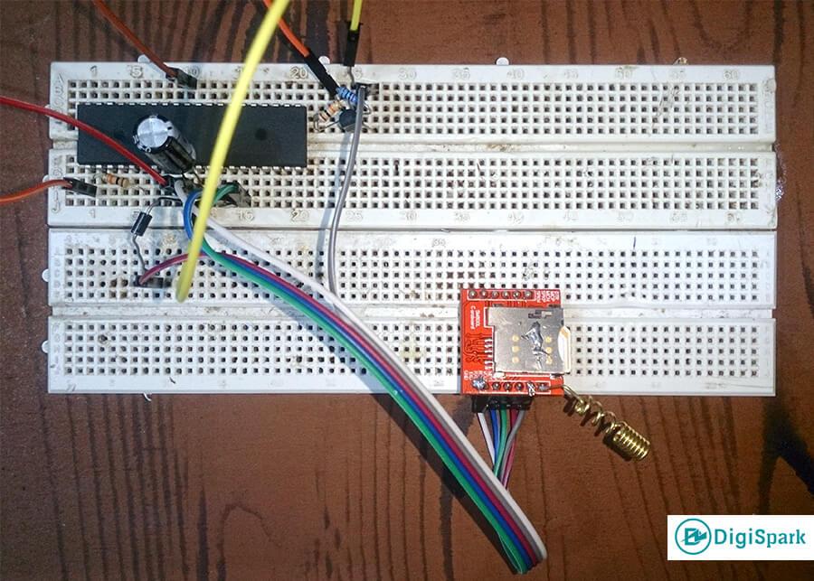 اتصالات مدار Sim800L و آی سی Atmega16 -دیجی اسپارک