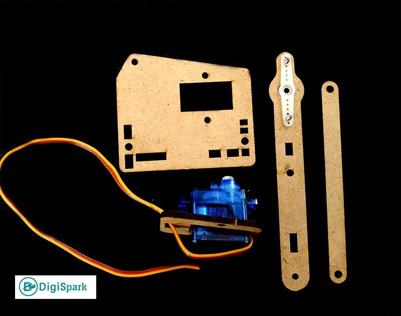 قطعات اصلی در ربات بازو MeArm - دیجی اسپارک
