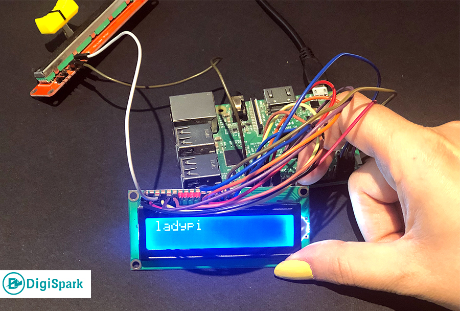 راه اندازی LCD پایتون با رزبری پای - دیجی اسپارک