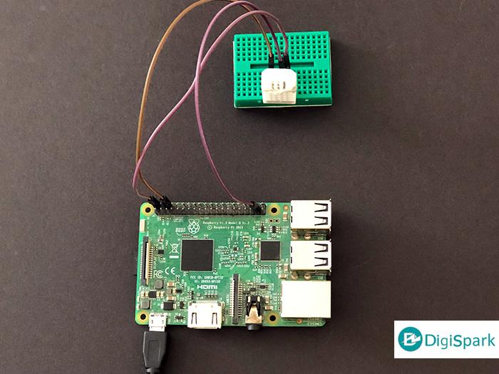 اتصال سنسور DHT پایتون و برد رزبری پای - دیجی اسپارک