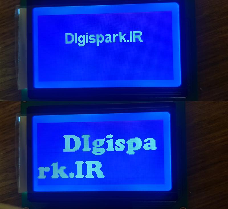 نمونه فونت LCD 128x64 آردوینو - دیجی اسپارک