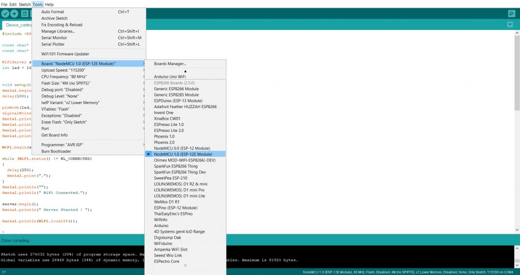 Node MCU Local webservice project-digispark