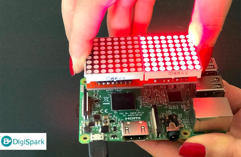 نصب شیلد دات ماتریس Raspberry pi - دیجی اسپارک
