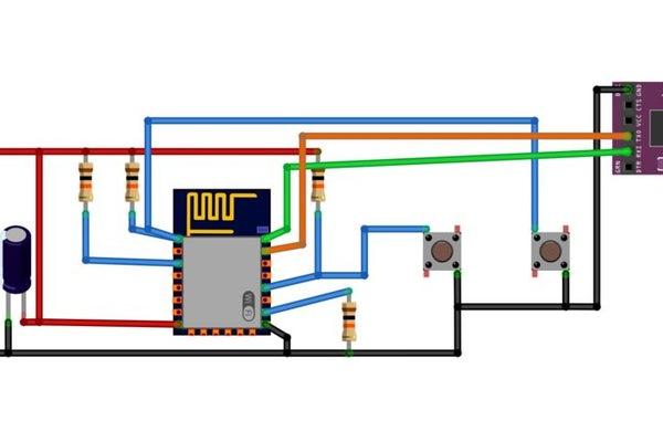 اتصالات مبدل USB به ESP8266 - دیجی اسپارک