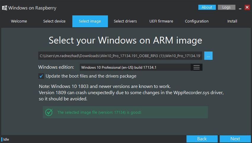 انتخاب فایل سیستم عامل windows 10pro برای رزبری پای - دیجی اسپارک