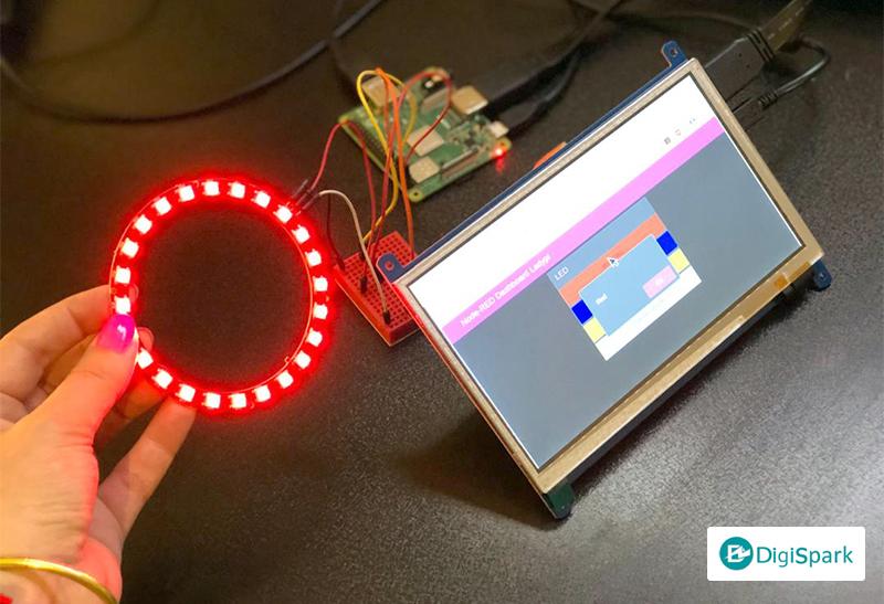 راه اندازی LED Neopixel با رزبری پای و نرم افزار Node-Red - دیجی اسپارک