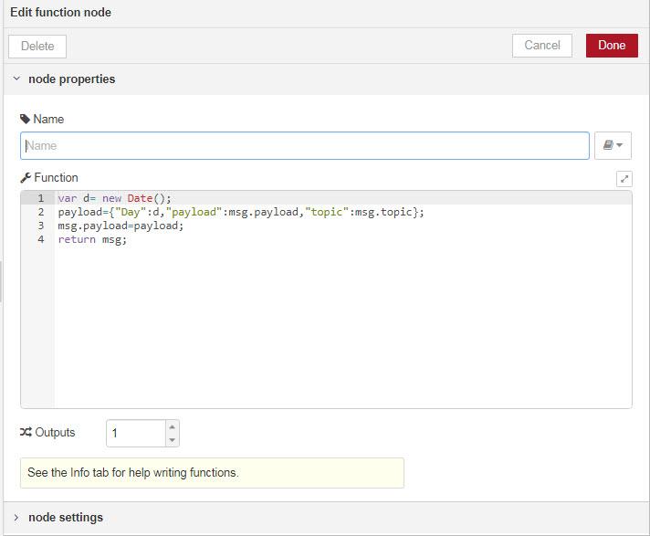 کد نویسی در نرم افزار نود رد با نود Function - دیجی اسپارک